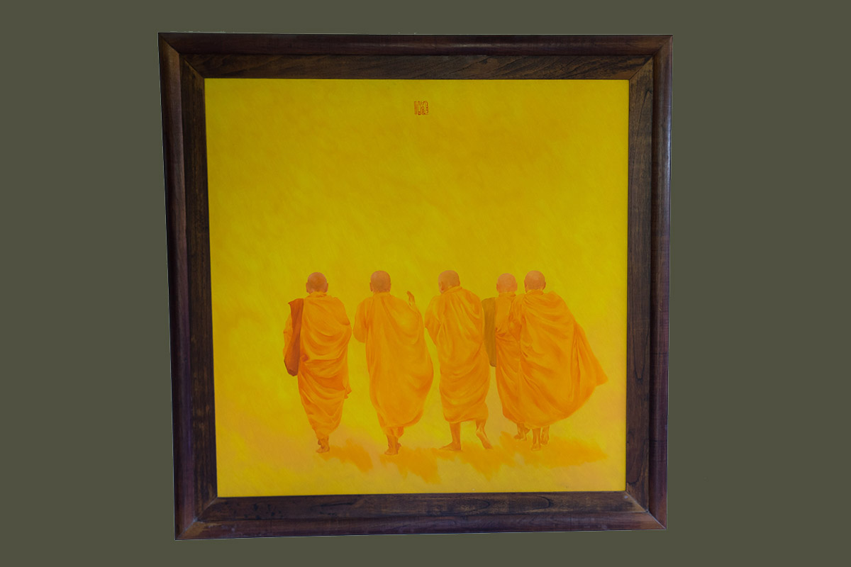 Painting of Monks - Anonymous