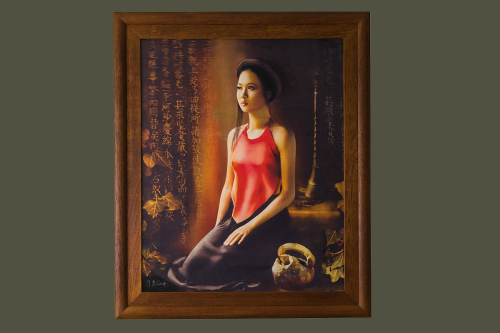 Painting of a Vietnamese girl